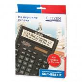 """Калькулятор настольный, """"Citizen"""" 888TII,черный, 12-разр., ст.1"""