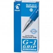 Ручка гелевая Pilot, Blgp-G1-5, с резин.манжеткой, синяя, 0,3мм, ст.12