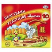 """Пластилин 10цв, Гамма, """"Мультики"""", стек, картон.упак, 200г, ст.20"""