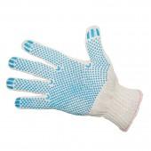 Перчатки хозяйственные, х/б, с точечным ПВХ покрытием