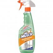 """Жидкость для мытья стекол """"Мистер Мускул"""" зеленый, нашатыр. спирт, с курком, 500мл, ст.12"""