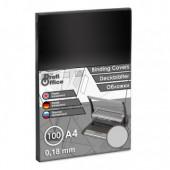 Обложка для переплета А4, пластиковая 180мкм, прозрачная,  100шт/уп, ст.1