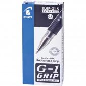 Ручка гелевая Pilot, Blgp-G1-5, с резин.манжеткой, черная, ст.12