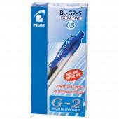 Ручка гелевая Pilot, BL-G2-5, автомат., c резин.манжеткой, синяя, ст.12