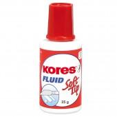 """Корректирующая жидкость на спиртовой основе """"Kores Fluid"""", с поролоновой кистью, ст.10"""