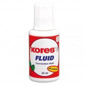 """Корректирующая жидкость на спиртовой основе """"Kores Fluid"""", с кистью, ст.10"""