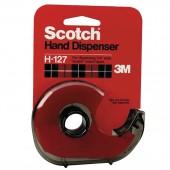 Диспенсер для скотча 3М Scotch H-127, прозрач., дымчатый, , ст.12