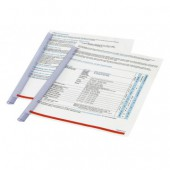 Скрепкошина Durable Duragrip, прозрачная, на 30 листов, ст.20