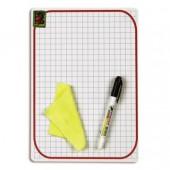 Доска детская, маркерная, 21х30, Attache, пластик, маркер, салфетка, ст.1