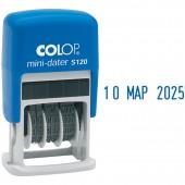 Штамп датер мини Colop S120, шрифт 3,8мм месяц букв., ст.1