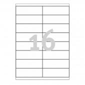 Этикетки самокл. Avery Zweckform, 16-дел., 100 л/уп