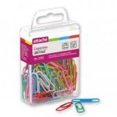 Скрепки 28 мм, Attache, полимерные, цветные, 100шт/уп., пластиковая упаковка, ст. 12