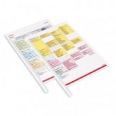Скрепкошина Durable Spine Bars, пластик, на 60 листов, А4, белая, 2901-02, ст.100