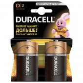 Элементы питания батарейка Duracell D/373/LR20, алкалиновые, 2шт/уп, ст.1