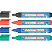 Маркер для бумаги (для флипчартов) Edding E380, набор 4 цвета, ст.1
