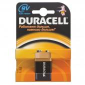 Элементы питания батарейка Duracell F8/Крона/6LR61, 9 V, алкалиновая, ст.1