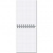 Блокнот А7 40л спираль, клетка, Attashe Nature, обл картон, арт.14с153, 00