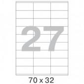 Самоклеящиеся этикетки Mega Label, 27-дел., (70х32), 100л/уп, ст.10