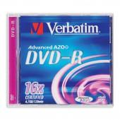 Диск DVD-R Verbatim, 16х, 4,7GB, ст.5