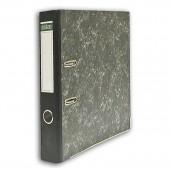 Папка-регистратор А4, Index, 80мм, картон, черный мрамор, ст.24