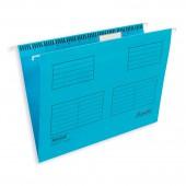 """Папка подвесная """"Bantex 3470"""", А4+, FoolScape, голубой, ст.25"""