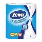 """Полотенца бумажные рулонные """"Zewa"""", 2-слойные, белые с тисн., 2рул./уп, ст.12"""