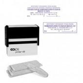 Штамп самонаборный Colop Printer 45, 7-стр.б/рамки 5-стр.с рамк, оттиск 82*25мм ст.1
