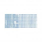 Касса русских букв, цифр и знаков Colop,  480 символов, ст.10