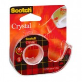 Скотч 19мм*7,5м, ЗМ Scotch Crystal 6-1975D, на диспенсере, ст.12