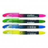 Выделители текста набор Index imh500, 4 цвета/наб, ст.12