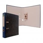 Папка-регистратор Index, А4, картон, черный мрамор, цветной корешок, металлическая окантовка, 50 мм