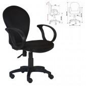 Кресло офисное ch-687, ткань, черное, ст.1