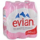 """Вода минеральная """"Evian"""" негаз. 0,5л, ст.24"""