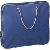Папка-портфель на молнии, с двумя ручками-шнурами, 340х260 мм, нейлон