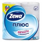 """Бумага туалетная """"Zewa Plus"""" 2-слойная, белая, 4 рул./уп, ст.1"""