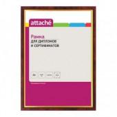 Рамка для сертификатов 21*30см, пластик, кр.дерево/золото, ст. 1