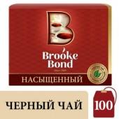 Чай черный Brooke Bond, цейлонск., 100пак/уп., с ярлычками, ст.1