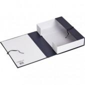 Короб архивный на завязках, бумвинил, 330x240x70 мм синяя, ст.50