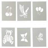 Набор трафаретов для воздушных фломастеров , с европодвесом (буквы, цифры, символы) ст.1