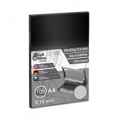 Обложка для переплета А4, пластиковая 150мкм, прозрачная,  100шт/уп, ст.1