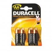 Элементы питания батарейка Duracell AA/316/LR6, алкалиновые, 4шт/блистер, ст.1