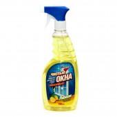 """Жидкость для мытья стекол """"Золушка"""" Чистые окна Лимон, с курком, 500мл, ст.12"""