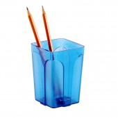 Подставка для ручек Attache City прозрачная синяя ст.1