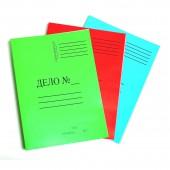 Скоросшиватель Дело, цветной, мелованный, синий, 300 г/м2, ст. 250