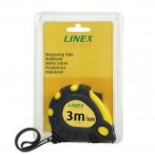Рулетка 3м, Bantex-Linex, с фиксатором, металл.лента ст.1