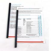 Скрепкошина Bantex 8042, 1-50 листов, черные ст100