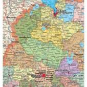 """Карта настенная """"Российская Федерация"""", 160х100см, полит/адм., ст.1"""