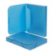 "Папка на резинке, пластик, ""Attache"", арт.318/045, короб, корешок 40мм, синий, ст.1"