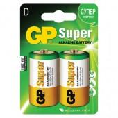 Элементы питания батарейка GP Super, D/373/LR20, алкалиновые, 2шт/уп ст.1