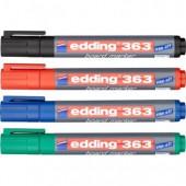 Маркер для письма на доске Edding 363/4S, 1-5мм, cap-off, скошенный наконечник, набор 4 цвета, ст.1